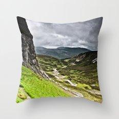 Inchnadamph Caves Throw Pillow