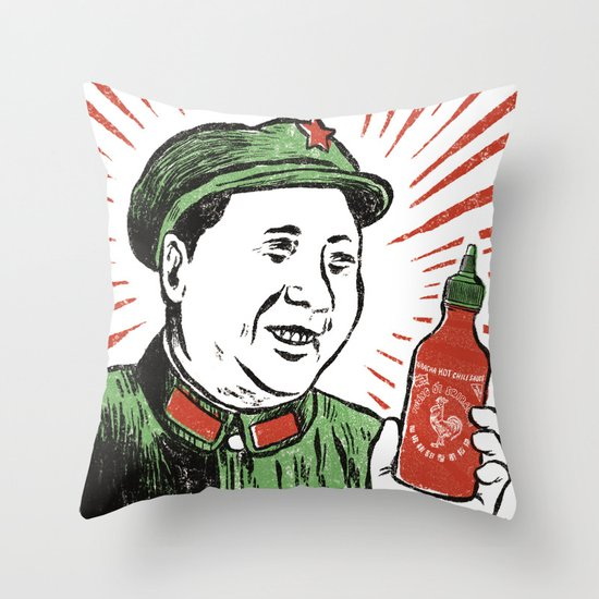 Mao Sauce Throw Pillow