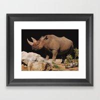 Perfect Horns Framed Art Print