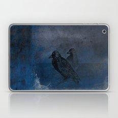 Two Little Crows Blue Sk… Laptop & iPad Skin