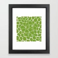 Hibiscus Animal Green Framed Art Print