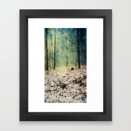 Snow To Blue Framed Art Print
