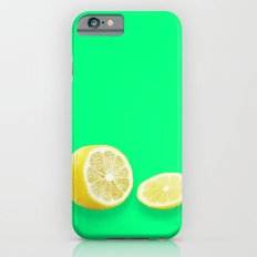 Lonely Sliced Lemon - Bright Spring Green Slim Case iPhone 6s