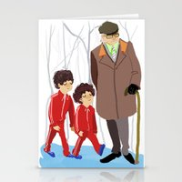 wes anderson Stationery Cards featuring let's shag ass (wes anderson) by Lindsay Pak
