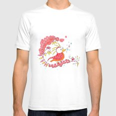 The bird White SMALL Mens Fitted Tee