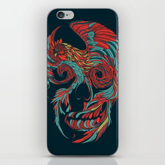 Rooster Skull  iPhone & iPod Skin