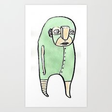 feeling green Art Print