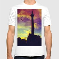 Flying Mens Fitted Tee White SMALL