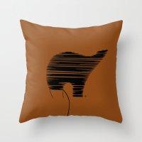 Thredbear Throw Pillow
