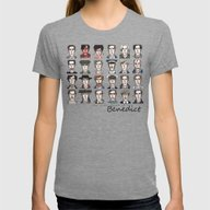 Benedict The Actor Womens Fitted Tee Tri-Grey SMALL