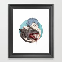 Dog-Eared Framed Art Print
