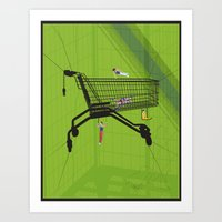 Trolley Gymnastics Art Print