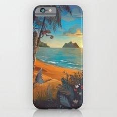 Retro Hawaii North Shore Travel Poster iPhone 6 Slim Case