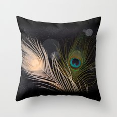 Peacock Feathers Throw Pillow