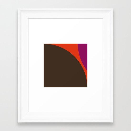 #422 Lava – Geometry Daily Framed Art Print