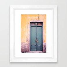 Knock on my door, please! Framed Art Print