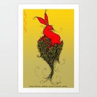 Chinese Zodiac Rabbit Art Print