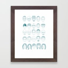 Breaking Bad all Faces Framed Art Print