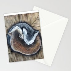 Cats rest Stationery Cards