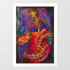 Folklorico Dancer Art Print