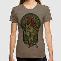 Zombie Nouveau Womens Fitted Tee Tri-Coffee SMALL