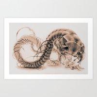 Girl & Dragon Art Print