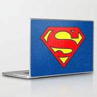 superman Laptop & iPad Skins featuring Superman by Alisa Galitsyna