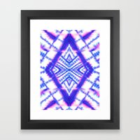Dye Diamond Iridescent Blue Framed Art Print