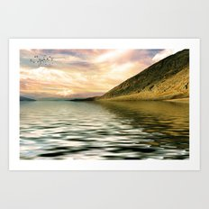 mountain lake 4 Art Print