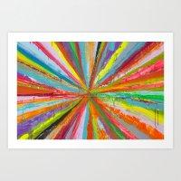 Exploding Rainbow Art Print
