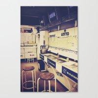 Gambling corner Canvas Print