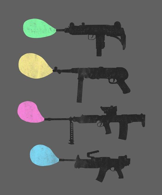 Bubble Guns Art Print