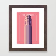 Towers Of San Francisco … Framed Art Print