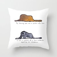 Throw Pillow featuring Monoprinting Le Petit Prince by Devin Sullivan