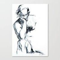 Male Figure Canvas Print