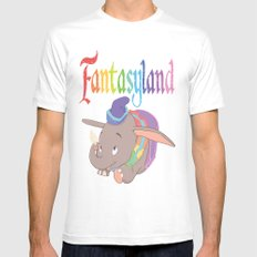Fantasyland White Mens Fitted Tee SMALL
