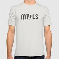 Minneapolis Mens Fitted Tee Silver SMALL