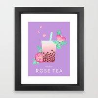 Bobalicious Rose Tea Framed Art Print