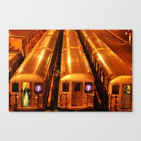 New York Queens Subway 7 Train Yard Canvas Print