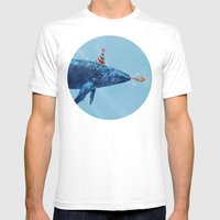 Party Whale  Mens Fitted Tee White SMALL