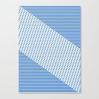 Ovrlap Blue Canvas Print