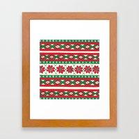 Holiday Stripes Framed Art Print