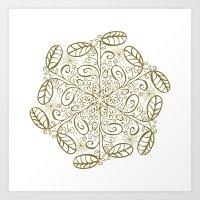 Ornato En Sepia Art Print