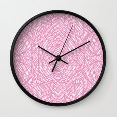 Ab Lace Pink Wall Clock