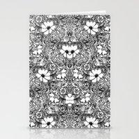 BECAUSE black and white mandala Stationery Cards