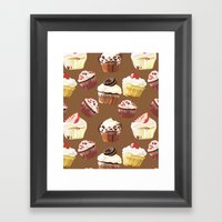 Cup cakes patterns Framed Art Print