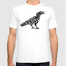 The three-eyed crow White Mens Fitted Tee SMALL