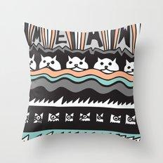 MEAW Throw Pillow