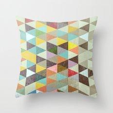 Triangles XXI Throw Pillow