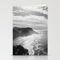 Cape Lookout - Black & White Stationery Cards